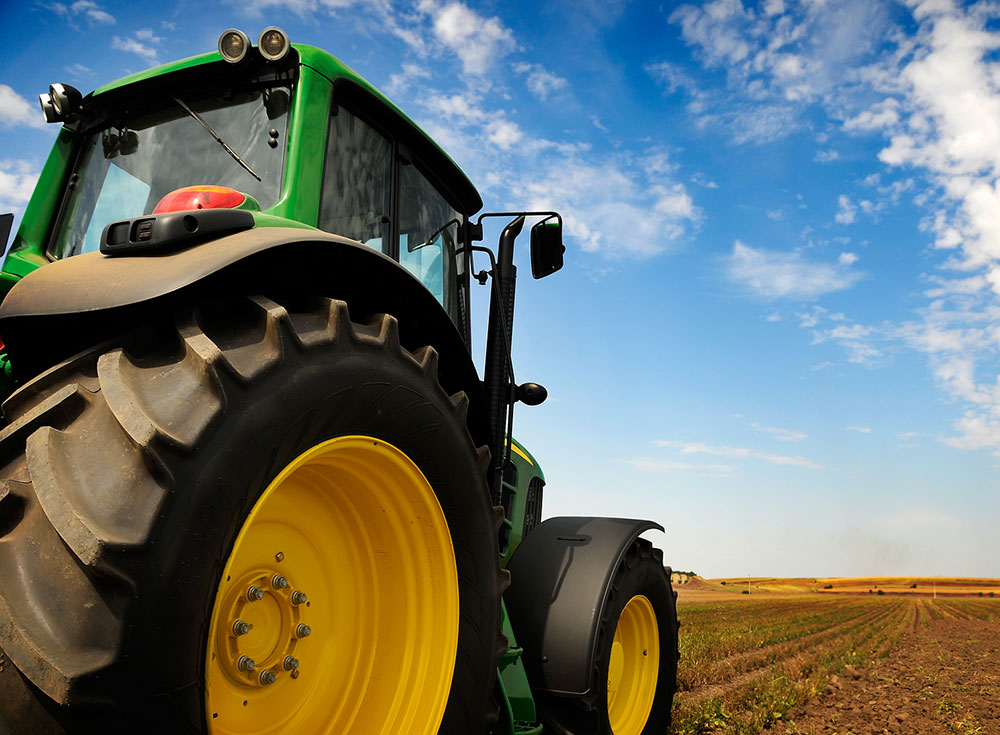 Agribusiness - Tractor in field